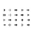 arrows black and white icons set pointers