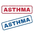 Asthma Rubber Stamps vector image