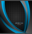blue abstract steel vector image vector image