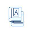 bookstext books line icon concept bookstext vector image