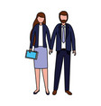 business man and woman vector image vector image