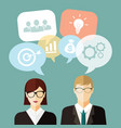 business people idea vector image