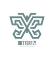 butterfly - logo template concept vector image