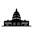 capitol icon vector image vector image