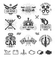 car service labels emblems and logos vector image