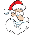 Cartoon Santa Claus Head vector image vector image