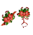 Christmas decorations with bow vector image vector image