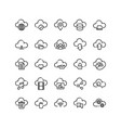 cloud computing outline icon set vector image vector image