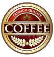 Coffee Premium Quality Red Label vector image vector image