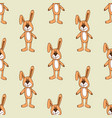cute bunny pattern background seamless vector image vector image