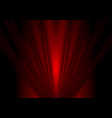 Dark red glow beams abstract background vector image vector image