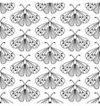 decorative hand drawn butterflies seamless pattern vector image
