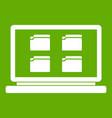 desktop icon green vector image vector image