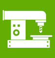 drilling machine icon green vector image vector image
