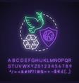 environmental protection neon light concept icon vector image