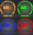 flashlight icon sign Fashionable modern style In vector image