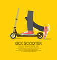 Flat Design Kick Scooter vector image vector image