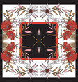 floral rectangle seamless pattern scarf with vector image