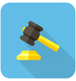 Gavel icon vector image vector image