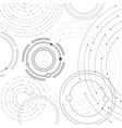 geometric pattern with connected lines and dots vector image vector image