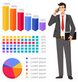 graph report people counting percent vector image vector image