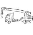 hand drawn sketch crane vector image vector image