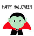 happy halloween count dracula headwearing black vector image vector image