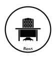 Icon of Table and armchair vector image vector image