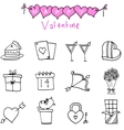 Icon of valentine day with hand draw
