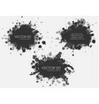 ink spots set collection in black vector image