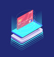 isometric credit card security vector image vector image