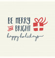 Merry christmas holiday lettering