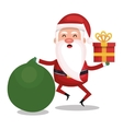 merry christmas santa claus character vector image