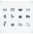 Modern shopping icon vector image