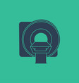 mri machine icon magnetic resonance imaging symbol vector image