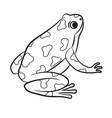 Outlined Poison-Dart Frog vector image vector image
