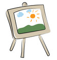 painting on white background vector image
