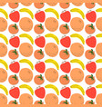 pattern with element fruits seamless vector image