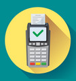 payment machine and credit card terminal icon in vector image vector image