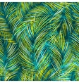 Seamles background with tropical palm vector image