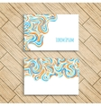 set business card vector image