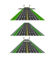 Set of different sections of the road with vector image vector image