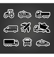 Set of sticky stickers transport icons vector image vector image