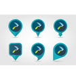 Sickles flat pin map icon vector image vector image