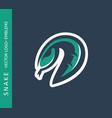 snake logo emblem vector image