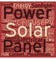 Solar Panels Pvs At Work text background wordcloud vector image vector image