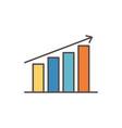 statistics diagram social media icon vector image