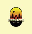 summer camp outdoor logo design best for sport vector image vector image