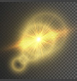 transparent glow light effect star burst with vector image vector image