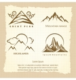 Vintage poster with mountain logo design vector image